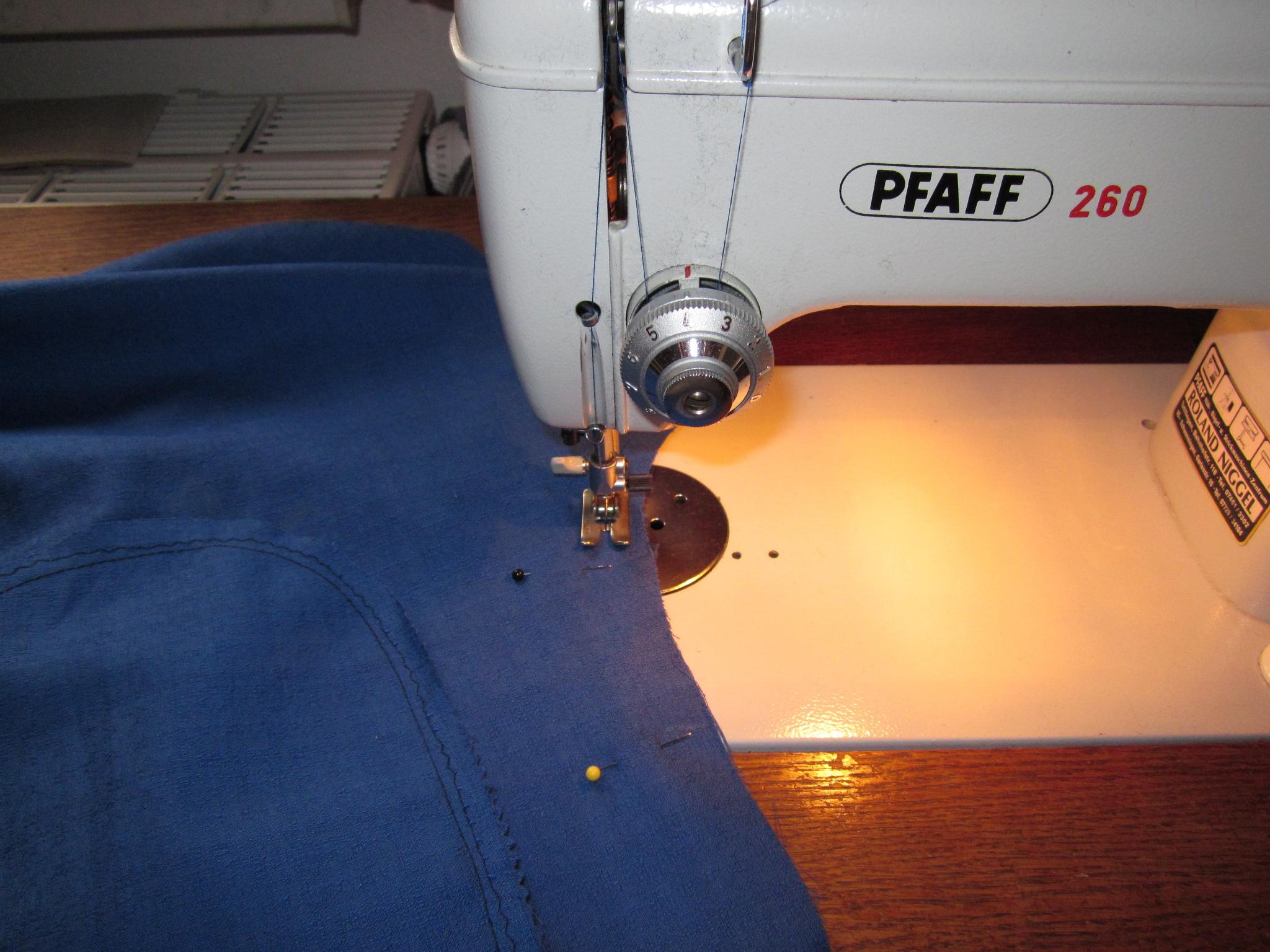 Spaß an der Nähmaschine: leichte Hose mit Bindeverschluß